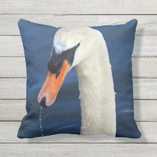 Swan Outdoor Pillow