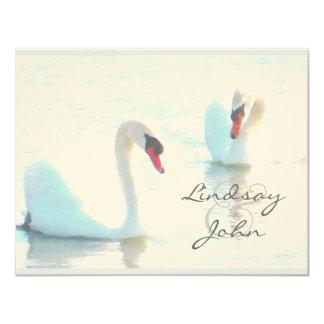 Swan Pair Thank You Card 11 Cm X 14 Cm Invitation Card