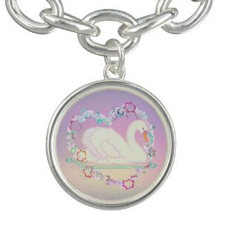 Swan Princess charm bracelet
