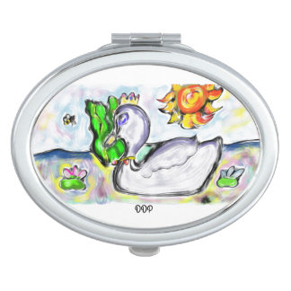 swan princess of her would compact mirror