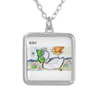 swan princess of her would silver plated necklace