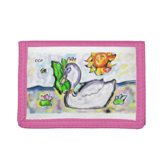 swan princess of her would tri-fold wallets