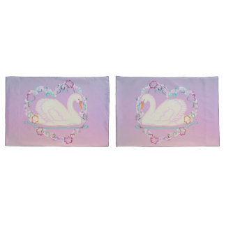Swan Princess pillow cases