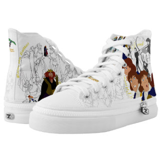 Swan Princess Rothbart&Derek High Top Sketch Shoes