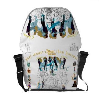 Swan Princess Sketch Messenger Bag (White)