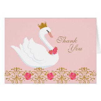 Swan Princess Thank You Note Card