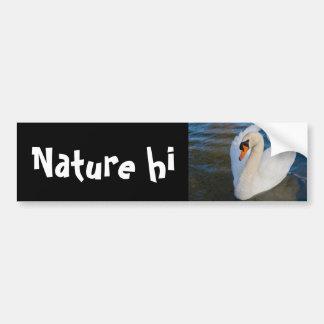swan profile car bumper sticker