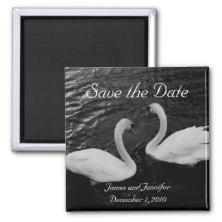 Swan Save the Date Magnet