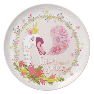 Swan Song Party Plates