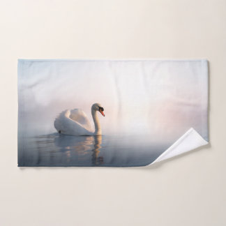 Swan Sunrise Hand Towel