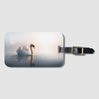 Swan Sunrise Luggage Tag
