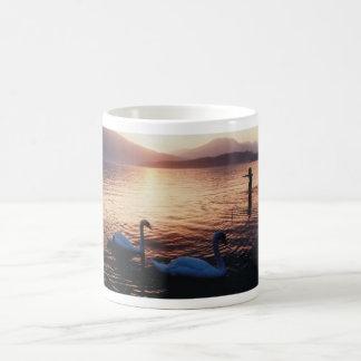 Swan sunset - Loch Lomond Coffee Mug
