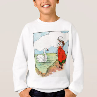 Swan, swan, over the sea.  Swim, swan, swim! Sweatshirt