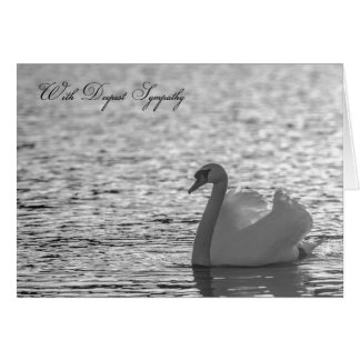 Swan Sympathy Card, Deepest Sympathy Greeting Card