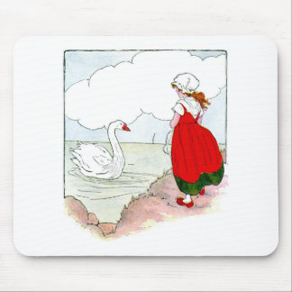 Swan Vintage The Real Mother Goose Mouse Pads