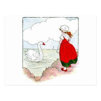 Swan Vintage The Real Mother Goose Postcard