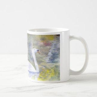 Swan watercolor mug