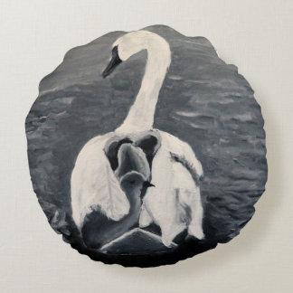 Swan with Cygnets cushion