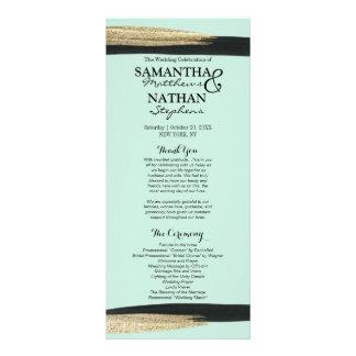 Swanky Chic Gold and Black Brushstrokes Programs Rack Card