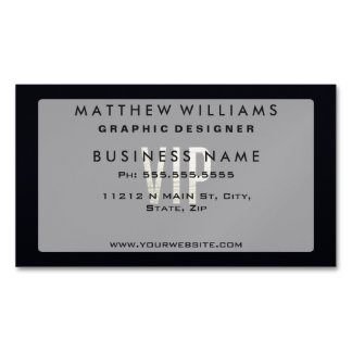 """Swanky Faux Gold Leaf Foil """"VIP"""" Typography Magnetic Business Cards"""
