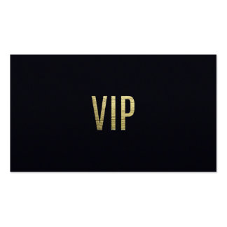 """Swanky Faux Gold Leaf Foil """"VIP"""" Typography Pack Of Standard Business Cards"""