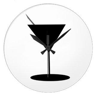 Swanky Martini Glass Large Clock