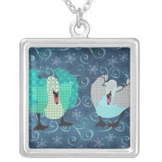 Swanky Swan Blue Necklace