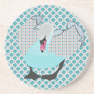 Swanky Swan I Blue Coaster