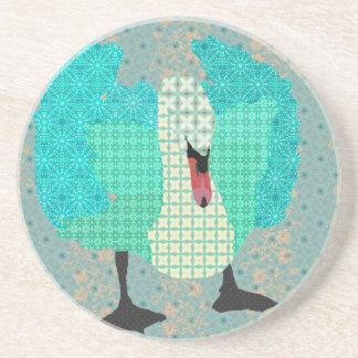 Swanky Swan II Blue Coaster