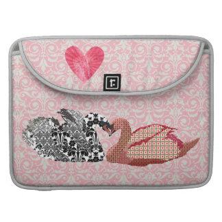 Swanky Swans Pink Heart Mac Book Sleeve Sleeves For MacBooks