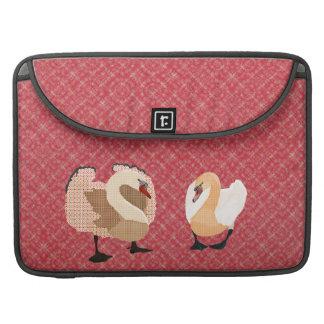 Swanky Swans Pink Mac Book Sleeve Sleeve For MacBooks