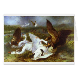 Swannery Invaded by Eagles by Edwin Henry Landseer Greeting Card