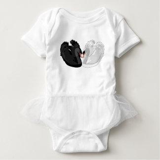 swans baby bodysuit