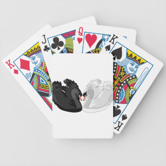 swans bicycle playing cards