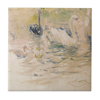 Swans by Berthe Morisot Ceramic Tile