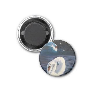 Swans Constellation 3 Cm Round Magnet