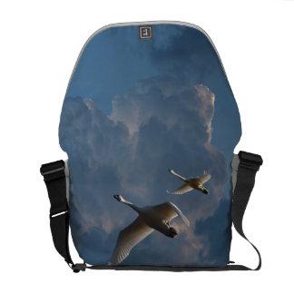 SWANS IN FLIGHT MESSENGER BAG