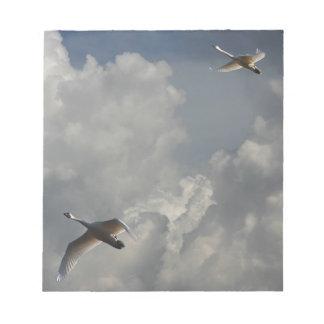 SWANS IN FLIGHT NOTEPAD