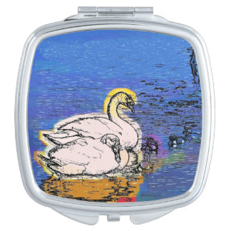 SWANS MIRROR FOR MAKEUP