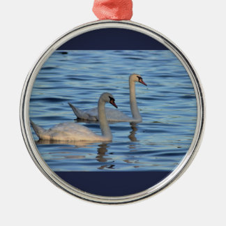 Swans Photo Metal Ornament