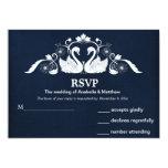 Swans RSVP 13 Cm X 18 Cm Invitation Card