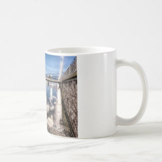 Swans shadows at Geneva lake, Switzerland Coffee Mug