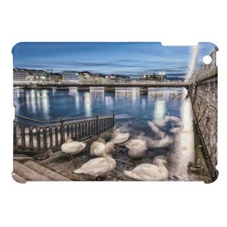 Swans shadows at Geneva lake, Switzerland iPad Mini Cover