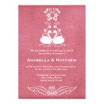 """Swans wedding 5"""" x 7"""" invitation card"""