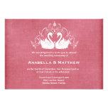 Swans wedding personalized invite