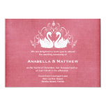 Swans wedding personalized invite