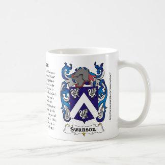 Swanson Family Coat of Arms mug