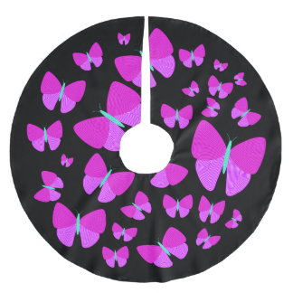 Swarm of Artistic Butterflies Tree Skirt