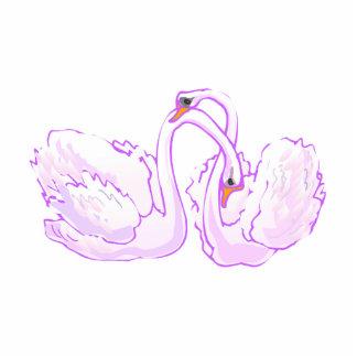 Swarrel & Swendle Swan Standing Photo Sculpture