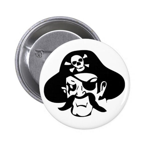 Swarthy Pirate Captain Pins